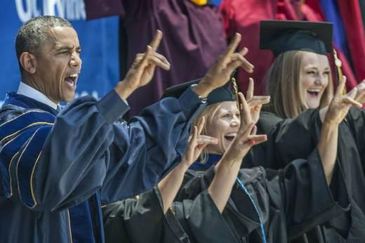 obama graduacion